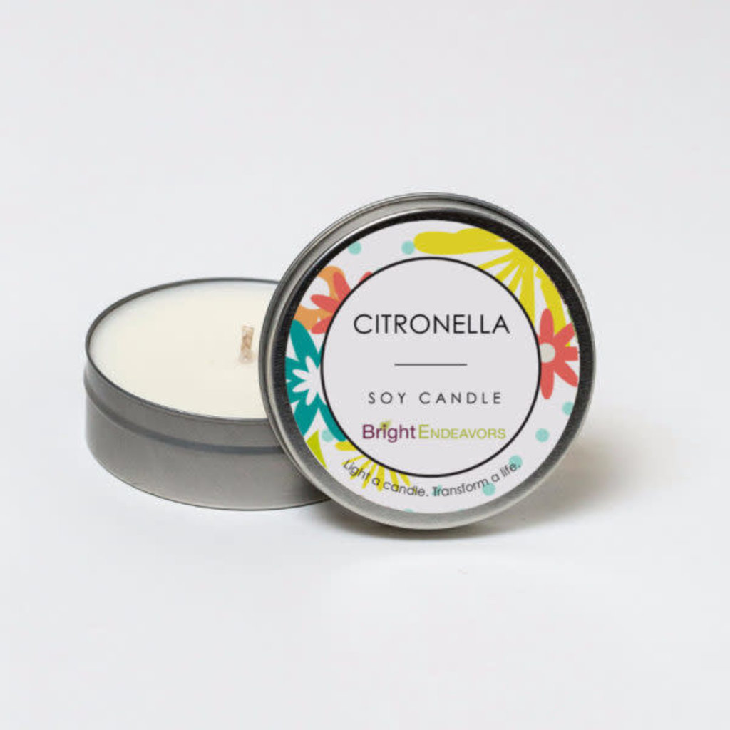 Bright Endeavors Citronella Outdoor Candle - 4 Ounce Tin