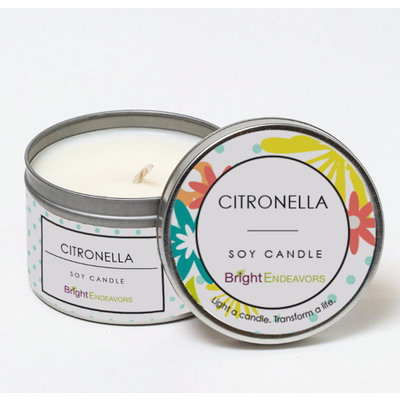 Bright Endeavors Citronella Outdoor Candle - 8 ounce Tin