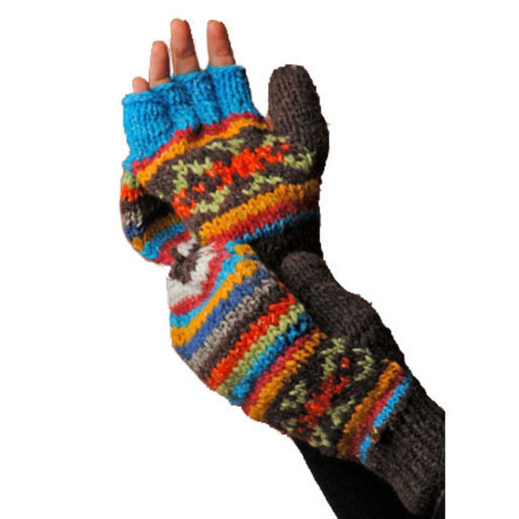 Minga Imports Classic Cotton and Wool Glittens Assorted