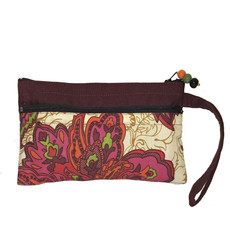 """Creation Hive Clutch With Two Zipper Pockets 8""""X 5"""""""