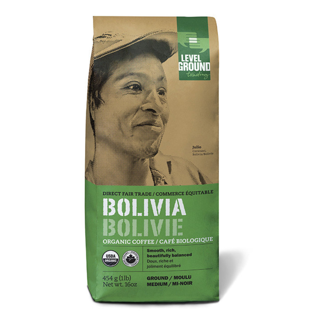 Level Ground Trading Coffee Bolivia Whole Bean 1 LB/454G