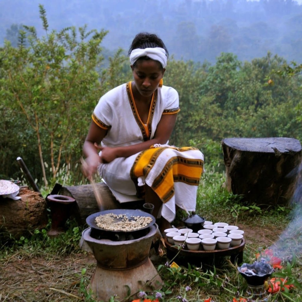 Level Ground Trading Coffee Ethiopia Whole Bean 1LB/454G