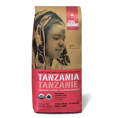 Level Ground Trading Coffee Tanzania Whole Bean 1LB/454G
