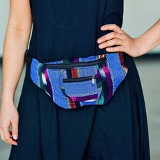 Lucia's Imports Colorful Ikat Fabric Fanny Pack