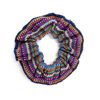 Lucia's Imports Cotton Ikat Scrunchie