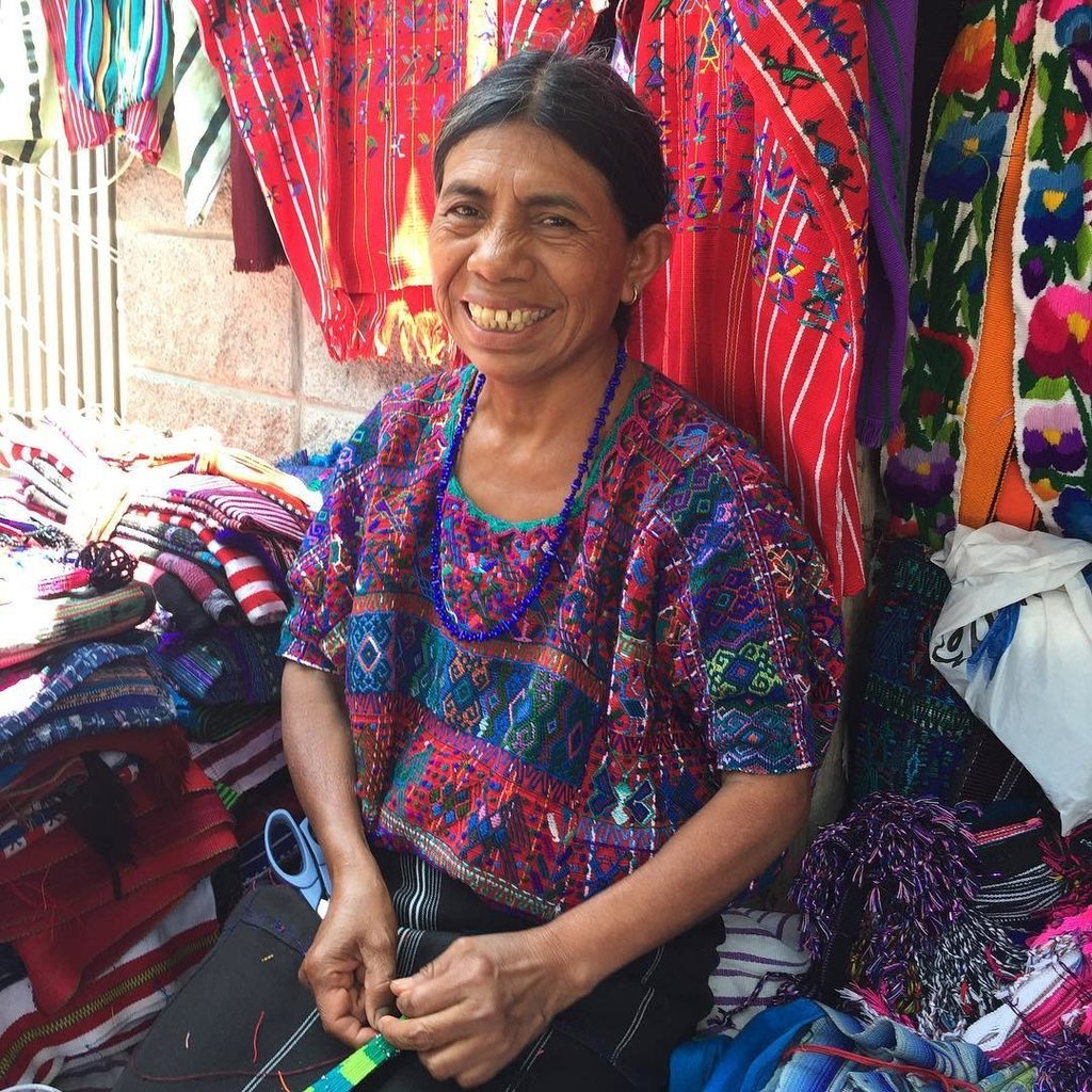 Lucia's Imports Cotton Ikat Scrunchie