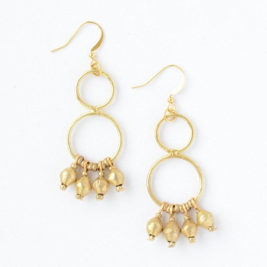 Fair Anita Comet Dangle Earrings: Brass