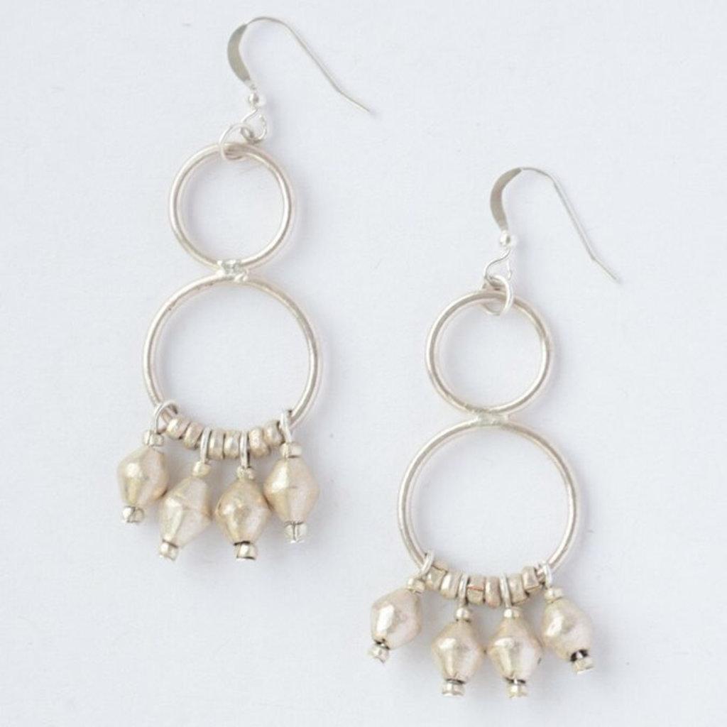 Fair Anita Comet Dangle Earrings: Silver