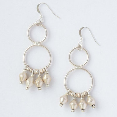 Fair Anita Comet Dangle Earrings: Silver