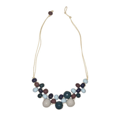 Creation Hive Cool Water Tones Bubble Bead Necklace