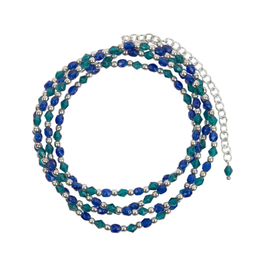 Ten Thousand Villages Cool Waters Beaded Necklace