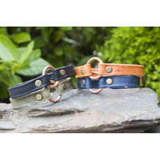 Lucia's Imports Copper Bridle Leather Bracelet