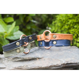 Lucia's Imports Copper Bridle Leather Bracelet