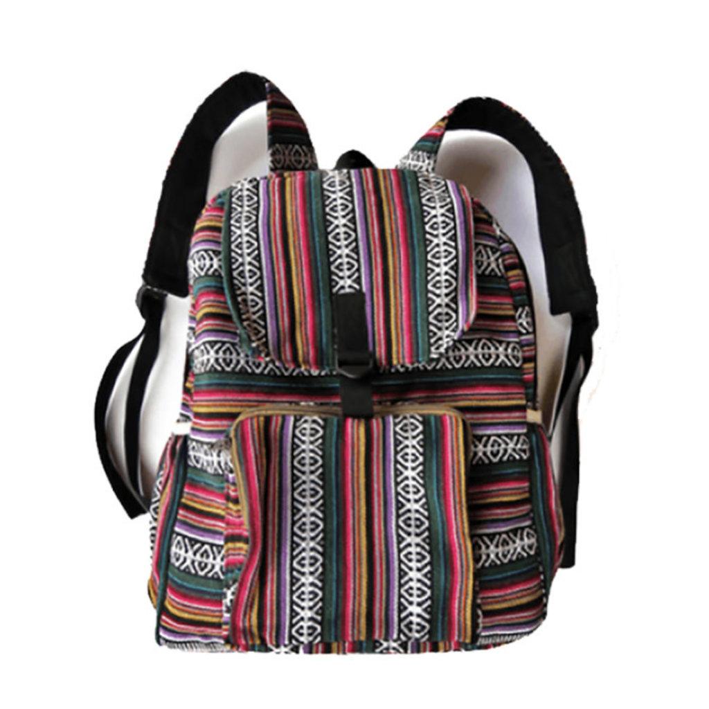 Ganesh Himal Large Backpack in Gyari Cotton Fabric