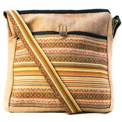Ganesh Himal Cotton Gyari Striped Shoulder Bag