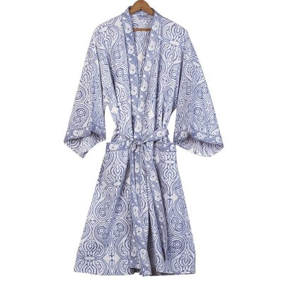 Ten Thousand Villages Cotton Paisley Bathrobe