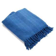Serrv Cotton Rethread Azure Throw Blanket