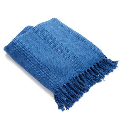 Serrv Cotton Rethread Azure Throw Blanket