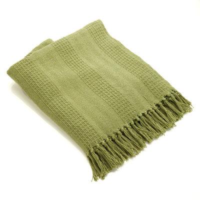 Serrv Cotton Rethread Moss Throw Blanket