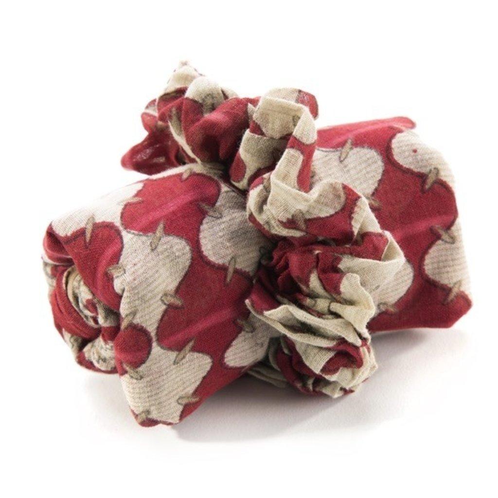 Minga Imports Cotton Sari Scarf & Scrunchie