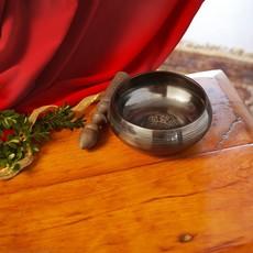 "Ten Thousand Villages 6"" Bronze Singing Bowl with Mallet"