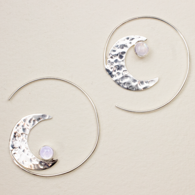DZI Handmade Crescent Rising Earrings