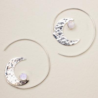 DZI Handmade Cresent Rising Earrings