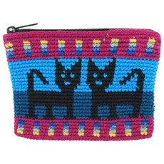 Unique Batik Crochet Cotton Cat Coinpurse