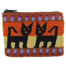 Unique Batik Crochet Cotton Cat Coinpurse
