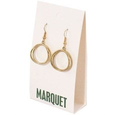 Marquet Fair Trade Dao Brass Earrings