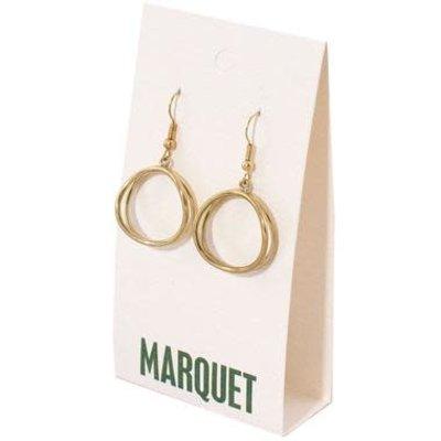 Marquet Fair Trade Dao Brass Earrings