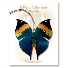 Tulia's Artisan Gallery Dead Leaf Butterfly Ornament Bookmark
