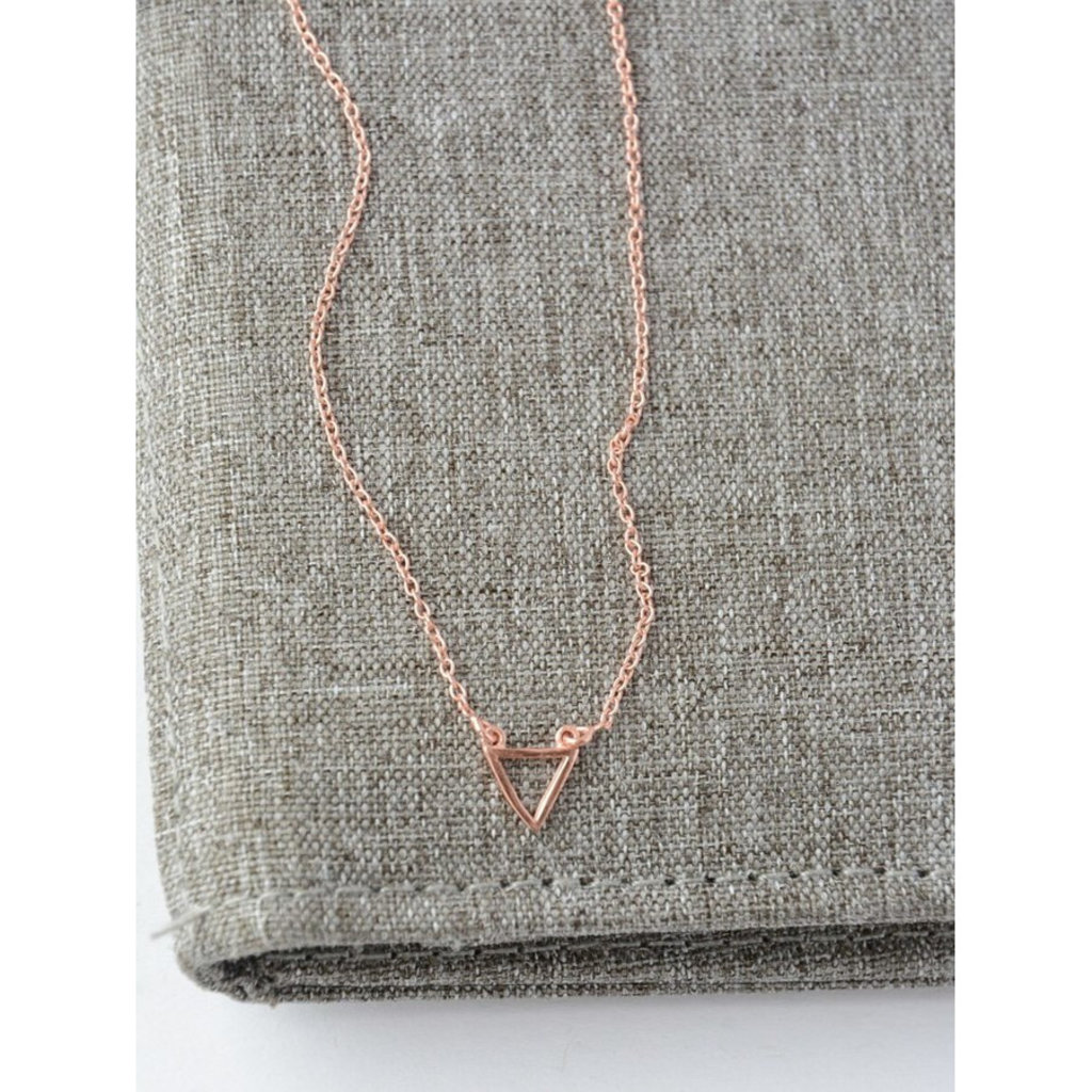 Fair Anita Delicate Rose Gold-Plated Sterling Triangle Necklace