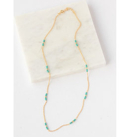 Fair Anita Delicate Turquoise and Gold Necklace