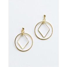 Mata Traders Diamond Hoop Studs