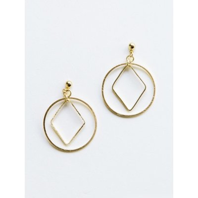 Mata Traders Diamond Hoop Studs