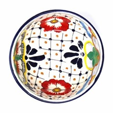 Global Crafts Dots & Flowers Bowl