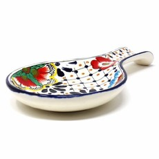 Global Crafts Dots & Flowers Spoon Rest