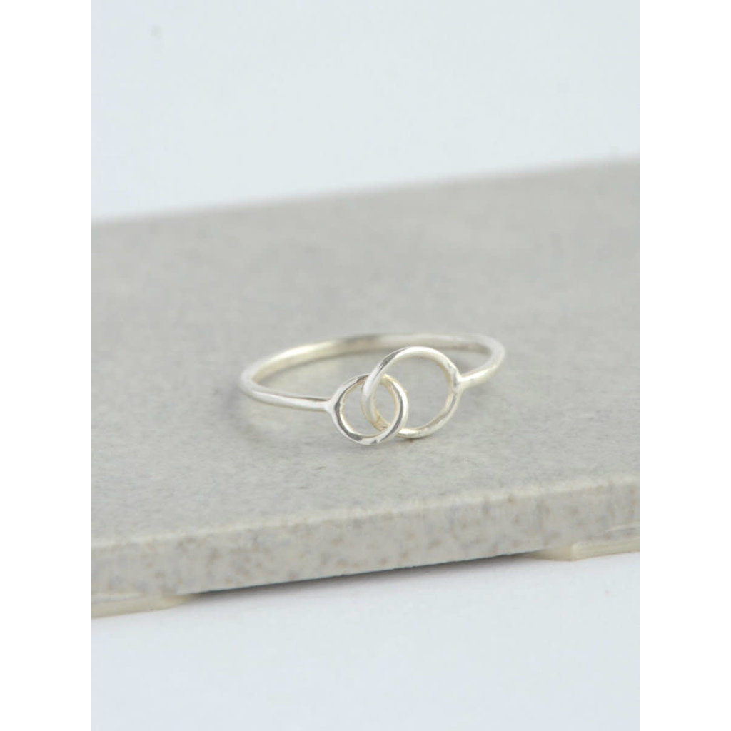 Fair Anita Double Halo Sterling Silver Ring