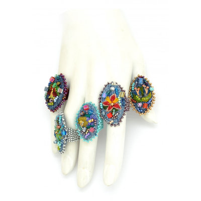 Dunitz & Co Embroidered Frida Ring