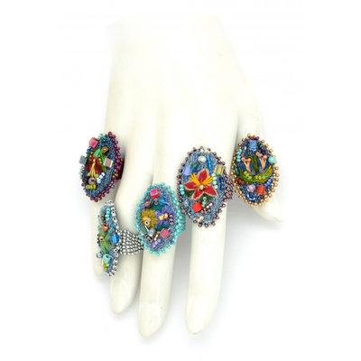 Dunitz & Co Embroidered Frida Ring