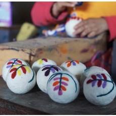 Ganesh Himal Embroidered Wool Felt Dryer Ball
