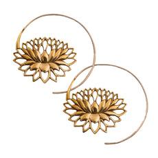 DZI Handmade Endless Lotus Earrings