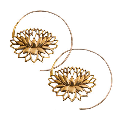 DZI Handmade Endless Lotus Earrings
