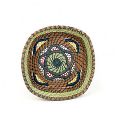 Mayan Hands Estrella Pine Needle and Wild Grass Basket