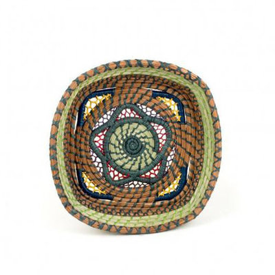 Mayan Hands Estrella Pine Needle and Wild Grass Basket