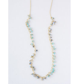 Fair Anita Evening Sky Brass and Semi-Precious Stone Necklace