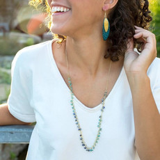 Fair Anita Evening Sky Brass and Semi-Precious Stone Necklace