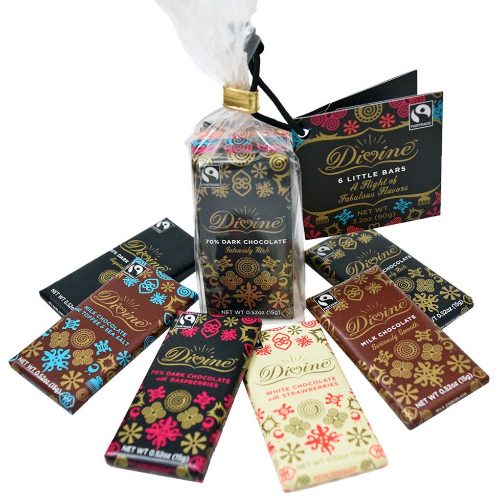 Serrv Fair Trade Chocolate Flight - Gift Set of 6 Petite Bars