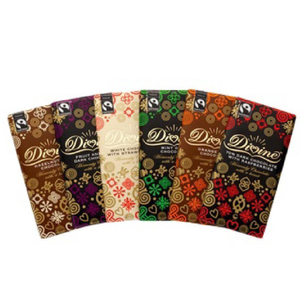 Divine Chocolate Chocolate Flight - Gift Set of 6 Petite Bars